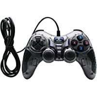 Live Tech Gamepad Wired USB PC Controller Dual Shock Supports Windows7/W8/W10 with 1.8M Cable Turbo Double Vibration…