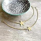Pulsera Inicial de Estrella de Oro Personalizada, pulsera de estrella de oro, joyería celeste, regalo de cumpleaños, regalo de aniversario, regalo de dama de honor