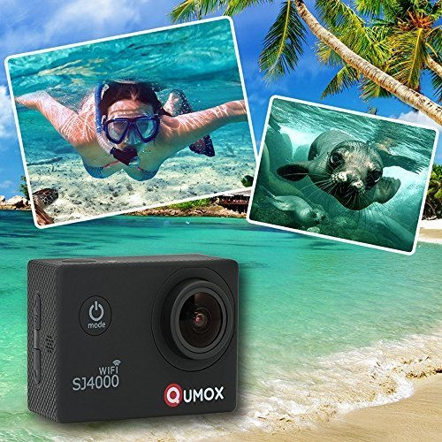 QUMOX Actioncam SJ4000, Wifi Action Sport Kamera, Camera Waterproof, Full HD, 1080p Video, Helmkamera, Schwarz, 117200 - 3