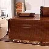 Klimatisierte Matte Sommer-Schlafmatte Faltbare Doppelseitig Verfügbare Bambusdecke Student-Schlafsaal Glatte Matte 1,5m 1,8m 2m 3-teilig (größe : 1.8*2.2m bed)