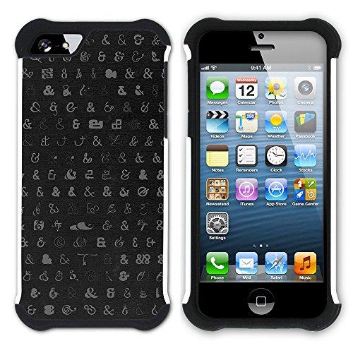 Graphic4You Tier FUR DESIGN Muster Hart + Weiche Kratzfeste Hülle Case Schale Tasche Schutzhülle für Apple iPhone SE / 5 / 5S Design #13