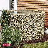 Gartenwelt Riegelsberger Bellissa Pond Basin Sink Water Butt, Flower Beds, Plant Pots, Raised Bed Round Diameter 130/110cm Height 80cm