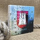 Holzbild Shabby-Chic *MEINE STADT HAMBURG**DROPS* Maritim, 10x10 cm *UNIKAT* - Holzbild, Wandbild, Landhausstil, Shabby Chic, Vintage, Bilder, Motive, Hamburg, Geschenkidee, Souvenir, Deko