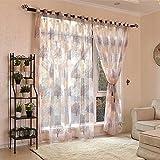 Voile Vorhang 1Stück Panel-Fenster Vorhänge 100* 250cm Tüll Behandlung Fall Querbehang House Tür Bad für Wohnzimmer Schlafzimmer Elegante