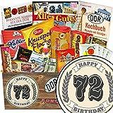 72. Geburtstag | Süßigkeiten Geschenkidee | mit Liebesperlen, Mokka Bohnen, Othello Keks Wikana und mehr | Süßes DDR Geschenk Set mit klassischem Aufkleber