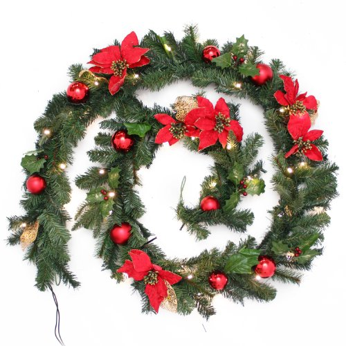 werchristmas-decorated-pre-lit-garland-illuminated-with-40-warm-white-led-lights-9-ft-red-gold
