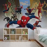 Spiderman Marvel - Forwall - Fototapete - Tapete - Fotomural - Mural Wandbild - (1274WM) - XXL - 312cm x 219cm - VLIES (EasyInstall) - 3 Pieces