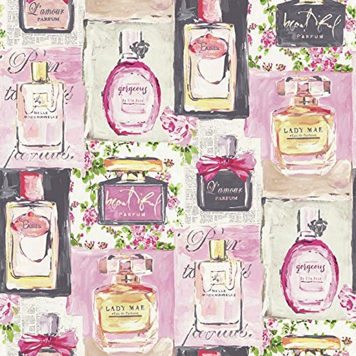 Arthouse 670500 Eau de Parfum papel pintado, color fucsia, 53 cm x 10,05 M
