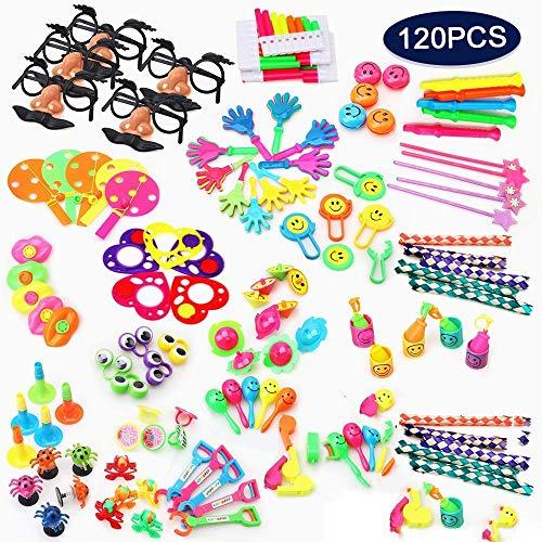 Jiaxingo Bulk Party Toys, 120 Stück Party Bag Füllstoffe für Kinder Birthday Party Favor Toy Sortiment, Klassenzimmer Preis & Belohnungen, Karneval Preise, Pinata Spielzeug für Kinder