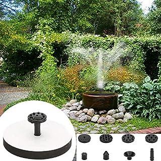 Lifesongs Solar Brunnen, Solar Springbrunnen Pumpe Vogeltränke 1,5 W  Quadratisch Solar Brunnen Wasser