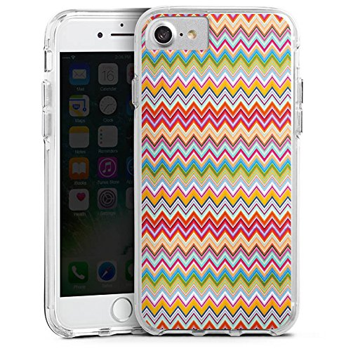 Apple iPhone 6 Bumper Hülle Bumper Case Glitzer Hülle Azteken Zickzack Bunt Colourful Bumper Case transparent