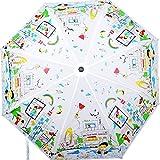 Cheeky Chunk White Nylon Folding Umbrella
