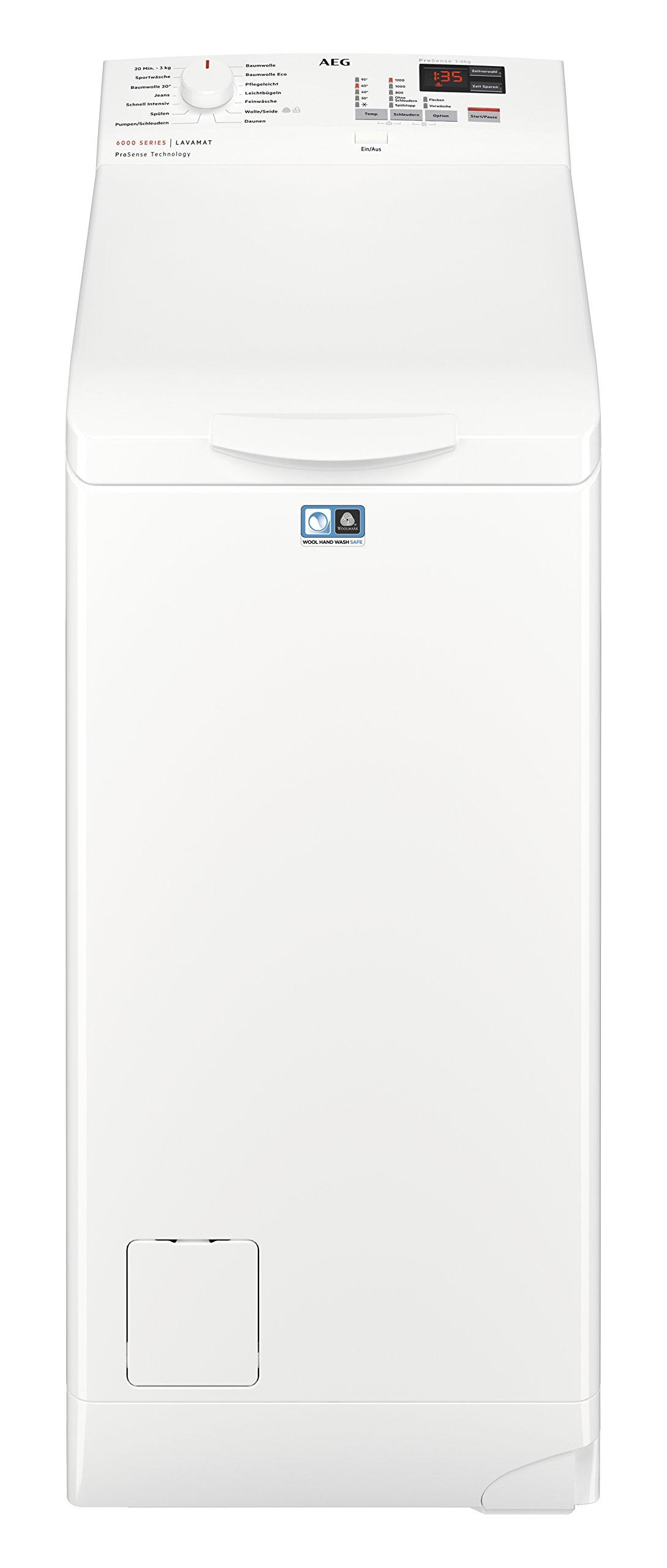 AEG L6TB40260 Waschmaschine Toplader, 6,0 kg, Mengenautomatik, Nachlegefunktion
