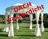 ASS verschiedene Gartenpavillon Pavillon mit Dachstoff mind. UV30+ UV50+ rechteckig eckig rund 3x3 3x4 3,5x3,5 Meter von Größe:RUND 3.5 Meter UV30+