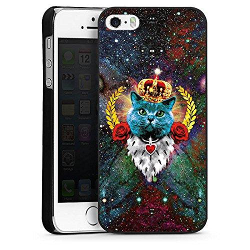 Apple iPhone 6 Housse Étui Silicone Coque Protection Chat bleu Roi Chat CasDur noir