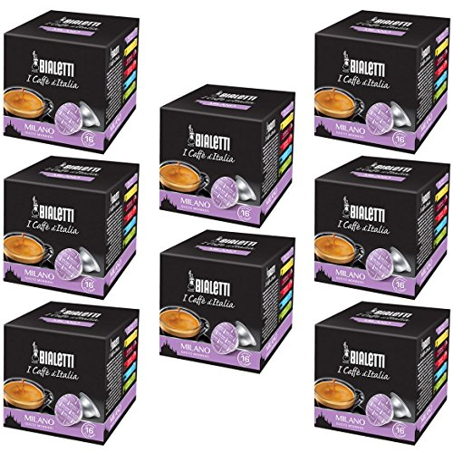 Bialetti Capsules Milano - Set 8 packages of 16 capsules