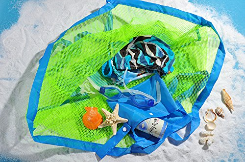 e-bestar 45,7x 45,7x 27,9cm grande mesh Tote bag giocattoli vestiti Carry all Sand away Beach bag Blue
