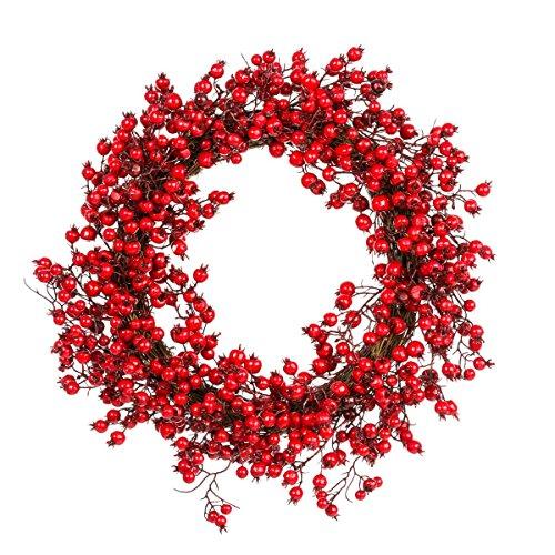 Weihnachtsdeko - Dekokranz Rote Beeren - ca. Ø 49 cm