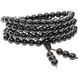 COAI Bracciale Collana 108 Perle Mala in Pietre Naturali Benefiche, Rosario Tibetano Unisex