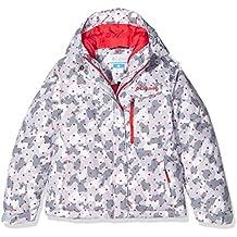Columbia Alpine Free Fall–Chaqueta de esquí para niña, niña, Alpine Free Fall, Red Camellia Camouflage