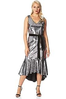 Yours Clothing Wide Fit Women/'s 4 Pack Blue Marl Spot /& Stripe Socks