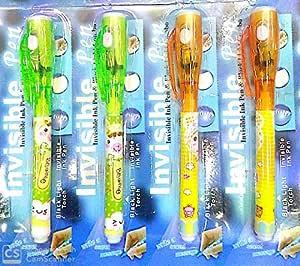 Bharatbuyz UV Light Invisible Pen Set of 4