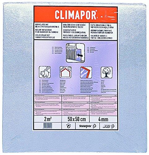 CLIMAPOR Dämmplatte alukaschiert, 0,5 x 0,5 m x 4 mm, 2 Packstücke(= 4 qm)