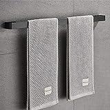 Handdoekenrek, Sikiwind Wandmontage Handdoekhouder Roestvrij Staal Handdoekrek 1-Arm Badkamer Handdoekstang 50cm (Zwart 19 In