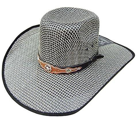 Modestone Traditional Bangora Rodeo Straw Chapeaux Cowboy Grey