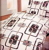 4 teilig microfibra juego de ropa de cama con cremallera 2 x 135 x 200 Funda nórdica + funda de almohada 2 x 80, certificado OEKO-Tex Standard 100