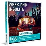 SMARTBOX - Coffret Cadeau - WEEK-END INSOLITE - 1450 SÉJOURS : Cabane dans les arbres, yourte, roulotte, manoir, nid suspendu et autres hébergements peu communs