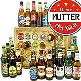 Beste Mutter der Welt | Bieradventskalender mit Bieren aus aller Welt | Geschenk Mutter | INKL gratis Bierbuch