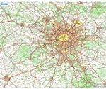 Carte Plastifie Roule Environs de Paris