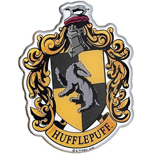 Fan Emblems Hufflepuff Crest Auto Aufkleber gewölbt/Multicolor/Chrome Finish, Harry Potter Automotive Emblem gilt leicht für Autos, LKWs, Motorräder, Laptops, Handys, Windows, fast alles