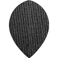 Designa Stoff Nylon Dart Flights–Pear schwarz–10Sets (30)–inklusive Darts Ecke gebogen Kugelschreiber