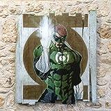 Peinture super héros comics sur bois de palette recyclé