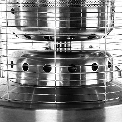 Ultranatura Edelstahl Gas-Heizstrahler GH-12 – Terrassenheizung regelbar bis 12 KW; - 3