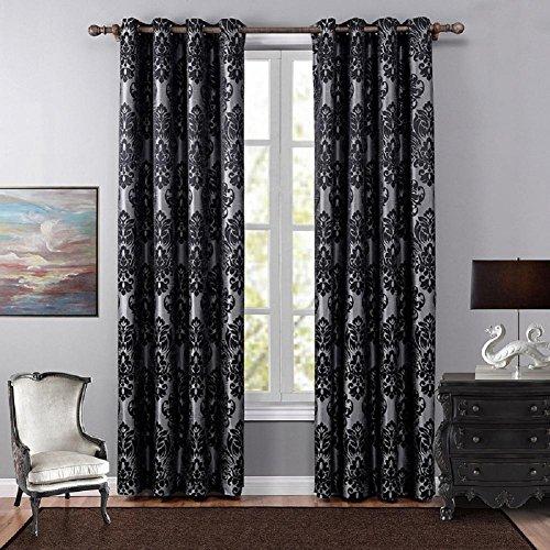Preisvergleich Produktbild YYH 2 Stück Blackout Vorhänge aus Polyester Jacquard gedruckt fertig Gardinen , 140x240cm