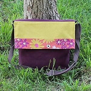 ¡¡Verkauf!! – Schulter-Tasche – Senf Gänseblümchen, handgefertigt in Leinwand und Baumwolle
