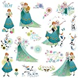 RoomMates RMK3015SCS RM - Disney Frozen Anna, ELSA und Olaf im Frühling Wandtattoo, PVC, Bunt, 29 x 13 x 2.5 cm