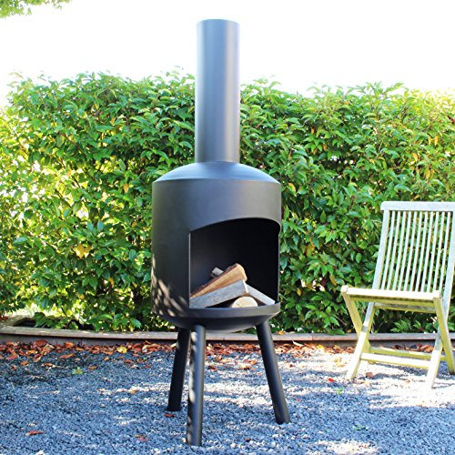 cheminee de jardin granada medium 140cm x 45cm noir. Black Bedroom Furniture Sets. Home Design Ideas