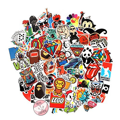 Pegatinas 100 PCS,Stickers Vinilo Graffiti Calcomanías Pegatina para Coche Llantas Moto Infantiles Pared Teclado IPhone Ps4 Niños