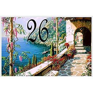 Azul'Decor35 Keramikplatte mit Text Ihrer Wahl - Name, Vorname ein Ort namens - Wählen Sie Text - 20x30cm, Stärke 8mm