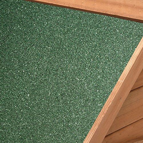 """Hundehütte / Hundehaus """"Rocky"""" mit aufklappbarem Bitumendach und erhöhtem Boden 71 × 88 × 83cm - 6"""