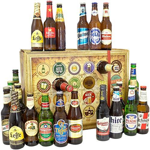 Bier-Adventskalender, 24 Biere aus aller Welt, inkl. Geschenkbox