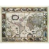Karten-Nova totius terrarum orbis geographica (1635) Poster