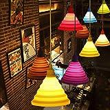 Kronleuchter/Hängeleuchte einfache bunte Lichter Art Weise DIY, E27, einzelner Kopf , black