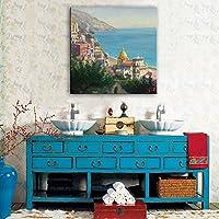 ZSH Città di mare dipinti a mano olio su tela,