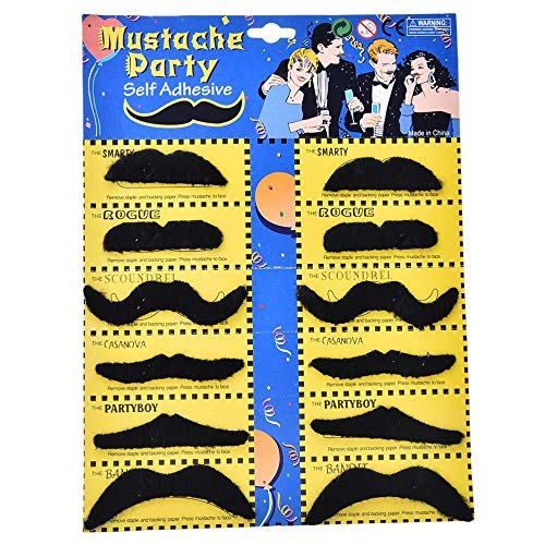 Beard Care - 12pcs Creative Funny Costume Pirate Party Halloween Cosplay Fake Mustache Moustache Beard Whisker - Dress Photo Japanese Psoriasis Adult Party Costum Fake Growth Supply Black M