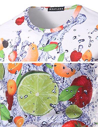 YCHENG Unisex Stilvolle Beiläufige Entwurf 3D-Druck-Muster Kurzarm T-Shirt mit Bunt 1102-T